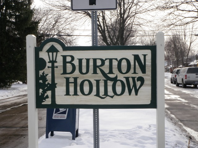 Burton Hollow Entrance in Winter